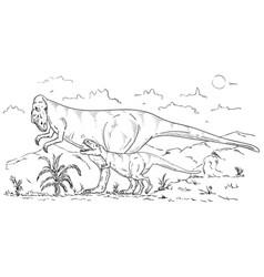 Dinosaurs family vector