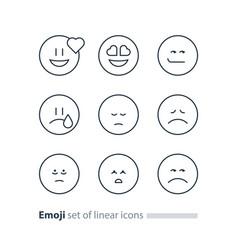 emoji icons emoticon symbols face expression signs vector image