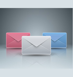envelope email mail icon abstract 3d vector image