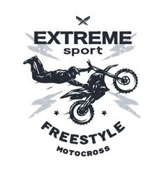 Extreme motocross Emblem t-shirt design vector