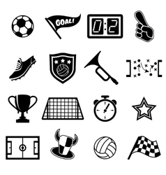 Football fans icons vector