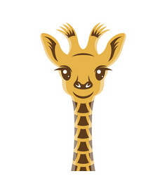 Giraffee baby cartoon style portrait nursery vector