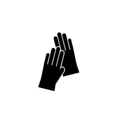 gloves icon on white background clothing or vector image