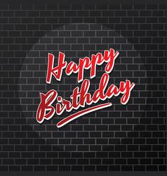 Happy birthday brick theme background art vector