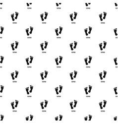 human step pattern seamless vector image