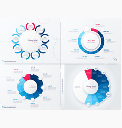 infographic round chart templates nine vector image
