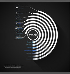 infographics days of week marketing icons with 7 vector image