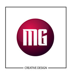 initial letter mg logo template design vector image