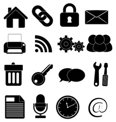 Internet web icons set vector image vector image