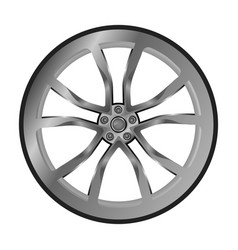isolated cast wheel on white background vector image