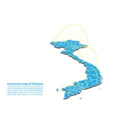 Modern of vietnam map connections network design vector