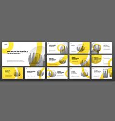 Modern presentation templates set for construction vector