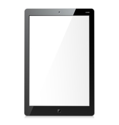 New black tablet vector