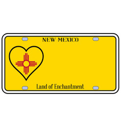 new mexico state license plateai vector image