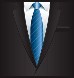 Object black man suit vector
