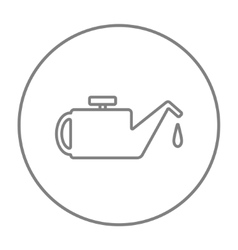 Oiler line icon vector