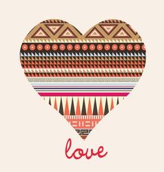 ornamental heart valentine card vector image vector image