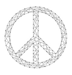 pacific symbol of peace from futuristic polygonal vector image