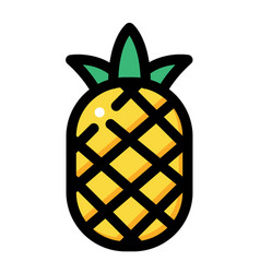 Pineapple linecolor vector