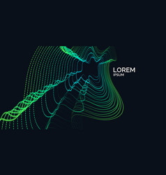 Poster depicts a wave particles vector