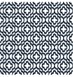 Quatrefoil ikat contour seamless line vector