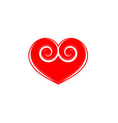 red heart sign vector image