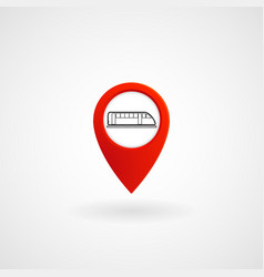 red location icon for metro station eps file vector image