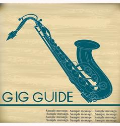 Retro saxophone vector