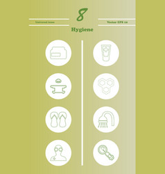 Set line icons of hygiene vector