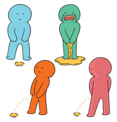 set of man peeing vector image