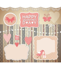 set valentines day elements vector image