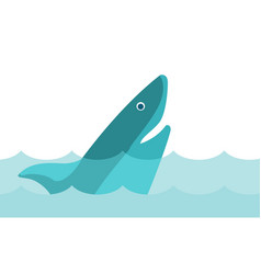 Shark in the sea cartoon vector
