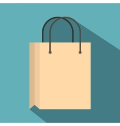 Shopping bag icon flat style vector