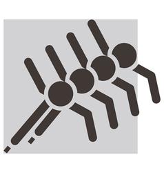 Short treck icon vector