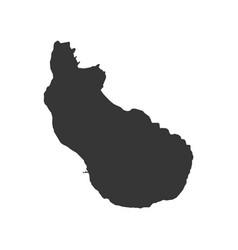 sint eustatius map vector image