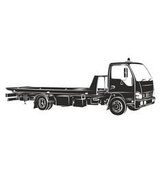 Sketch tow truck vector