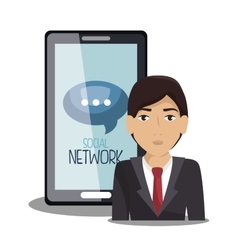 social network media isolated icon vector image