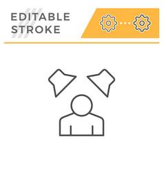 sound surrounding editable stroke line icon vector image