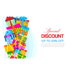 special discount and season sale banner vector image