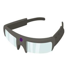 spy glasses icon cartoon style vector image