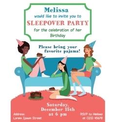 Teenage girls birthday party invitation vector