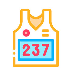 vest with personal athlete number icon vector image