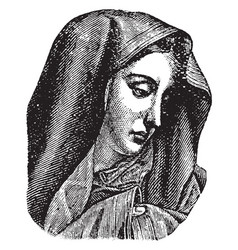 Virgin mary vintage vector