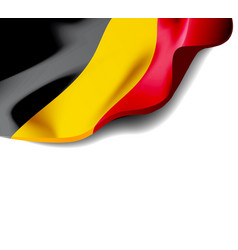 waving flag of belgium close-up with shadow vector image