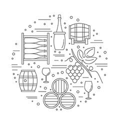 Winemaking wine tasting graphic design concept vector image