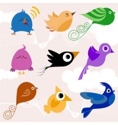 Cartoon bird vector