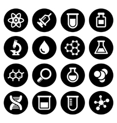 Chemical icons set vector image vector image