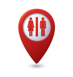 Map pointer with man and woman icon vector image vector image