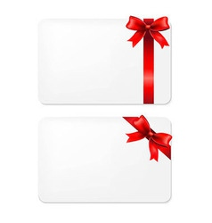 Red Bow And Blank Gift Tags vector image vector image