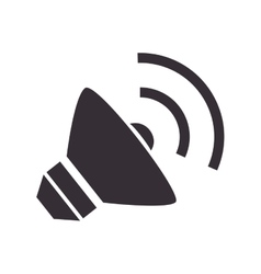 sound speaker loud vector image